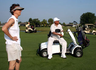 The 2006 Florida Open for Golfers with Disabilities Pg. 2 Putting Single Rider Golf Cart on single rider golf car, single passenger golf carts, solo rider golf carts,